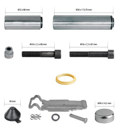 K003800 Caliper Guides & Caps Repair Kit