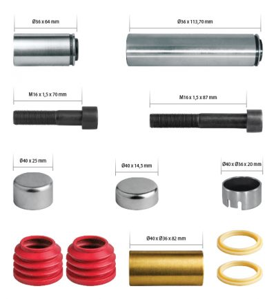 K004100 Caliper Guides & Seals Repair Kit
