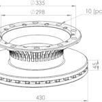 truck brake disc parts